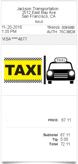 invoice template for cab